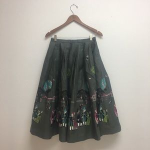 Dresses & Skirts - Vintage circle skirt with novelty print